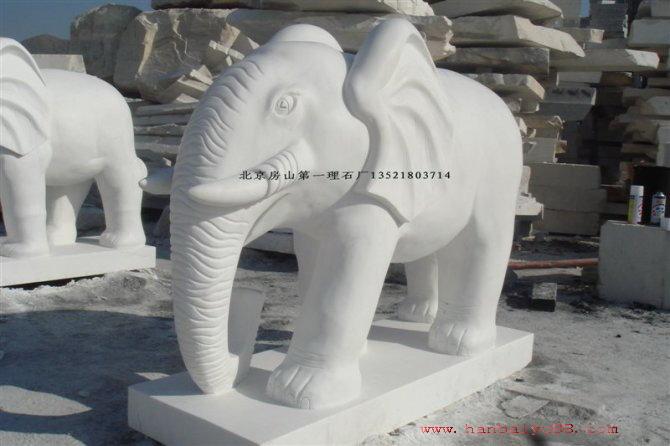 汉白玉石象汉白玉如意象汉白玉动物雕塑汉白玉十二生肖雕塑