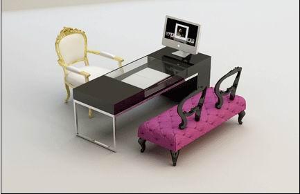 电脑选片桌椅