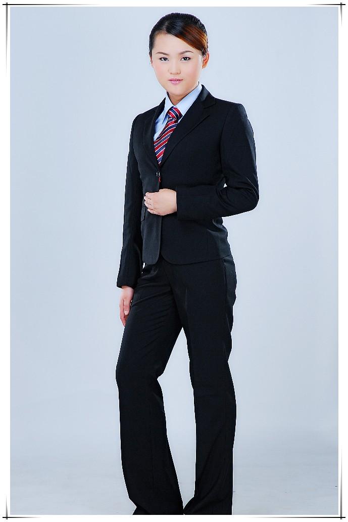 女式西装职业装套装正装定做 广州加工修身休闲小西装
