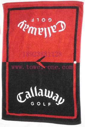 割绒纯棉活性印花高尔夫运动毛巾