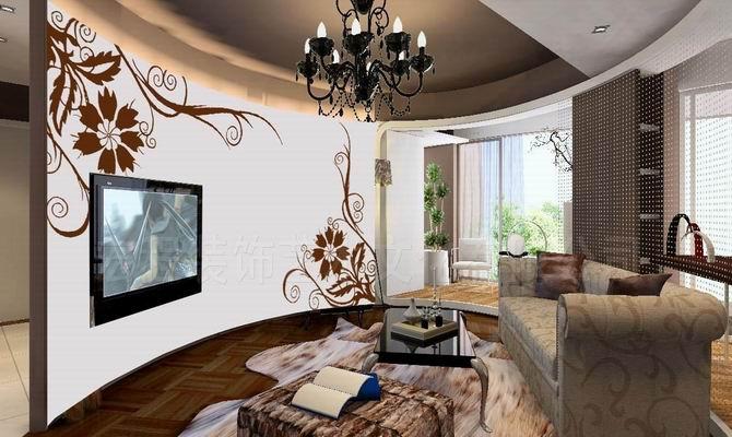 家居装饰典范 电视艺术背景墙 瓷砖拼花 瓷砖拼图