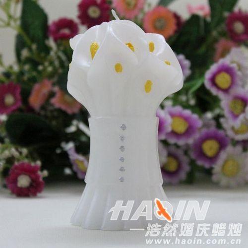珍珠百合蜡烛