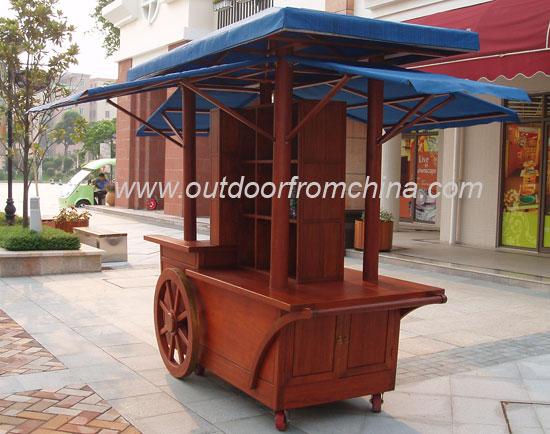 售货车 木制售卖车 手推车 外卖车 木制花车 户外家具 户外景观设施