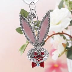 9550-1-61 闪钻镂空可爱兔子钥匙扣批发