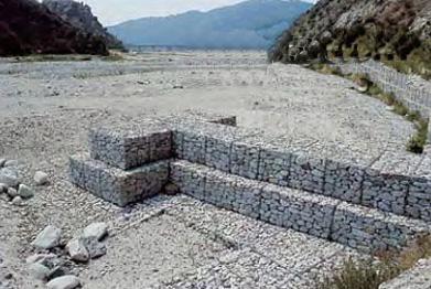 电镀锌石笼网 电镀包塑石笼网 PVC石笼网-浙江石笼网箱格宾网