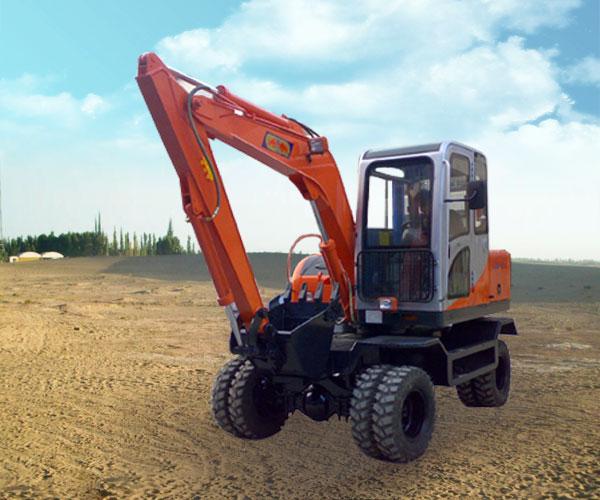 双驱动小型360度液压挖掘机