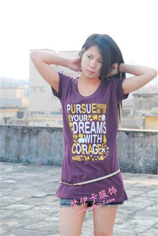 男女款短袖T恤 韩版T恤韩版女装牛仔裤休闲裤批发