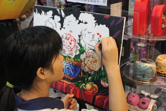 上海心乐数字油画批发中心。上海数字画工厂