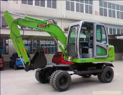 小挖掘机/JG608S轮胎式液压小型挖掘机/小型挖掘机报价/小型挖掘机型号/中小型挖掘机图片