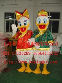 上海卡通人偶 行走人偶服装 唐老鸭