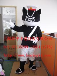 上海卡通服装 行走人偶服饰 黑猫警长