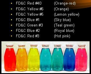 美国FDA认证FD&C色素色淀系列黄5、黄6、红3、红40、蓝1