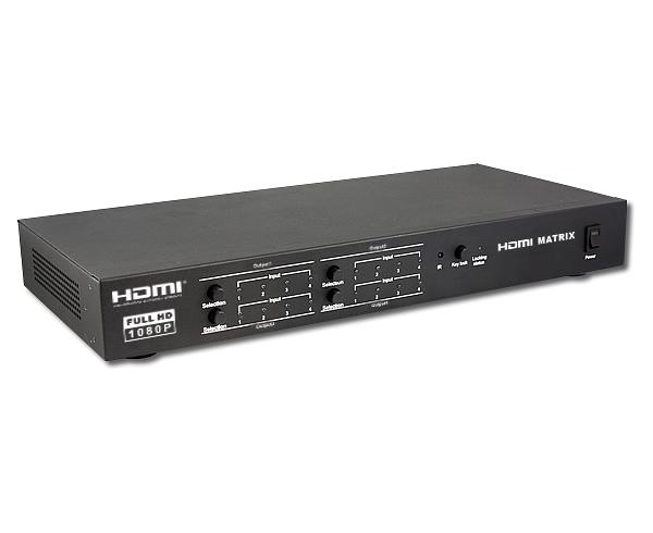 HDMI矩阵视频切换器四进四出