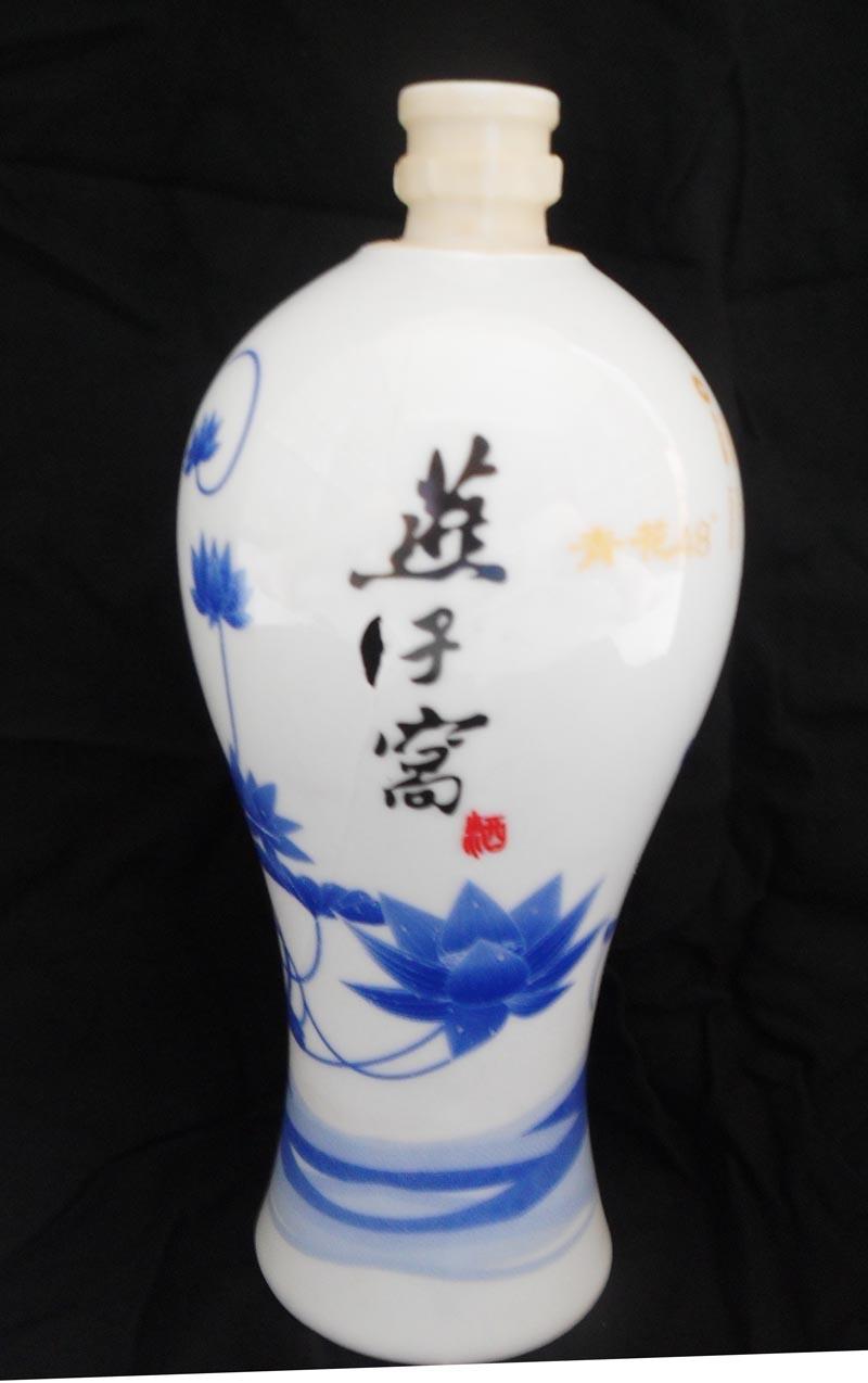 陶瓷瓶 白瓷酒瓶 青花瓷瓷酒瓶 景德镇陶瓷酒瓶厂