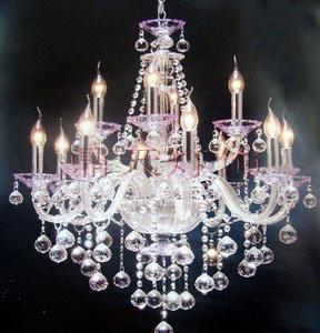 粉色托杯 8+4头现代家居 卧室 客厅吊灯 DT-8+4A007