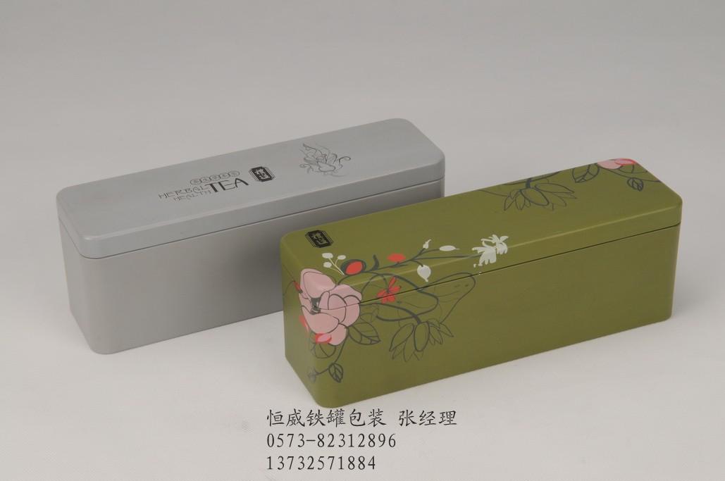 20/个  长方形马口铁茶叶罐 缩口茶叶铁盒:产品系列编号cfg701,镀锡图片