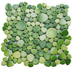 陶瓷鹅卵石果绿马赛克