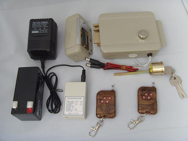 遥控电机锁/遥控锁/防盗锁/电子锁/安全锁/远距离遥控开门-佛山