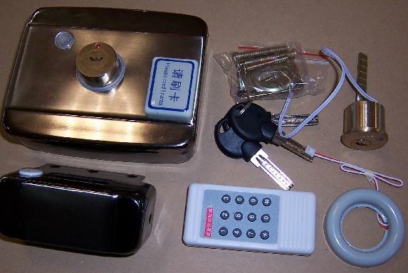 一体刷卡锁/遥控锁/电控锁/出租屋锁/感应锁/一体锁/感应卡锁-