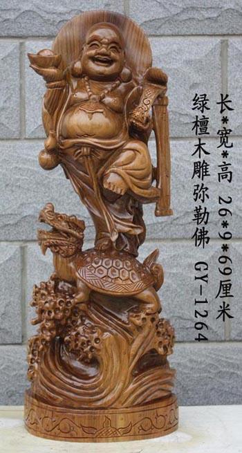 绿檀木雕工艺品 木雕佛像