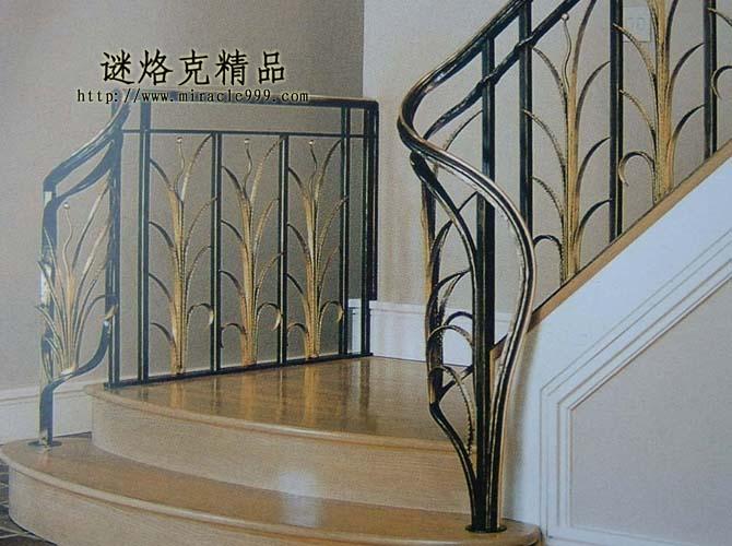 产品供应 石材 建筑石材 石材楼梯 别墅精品铁艺楼梯扶手