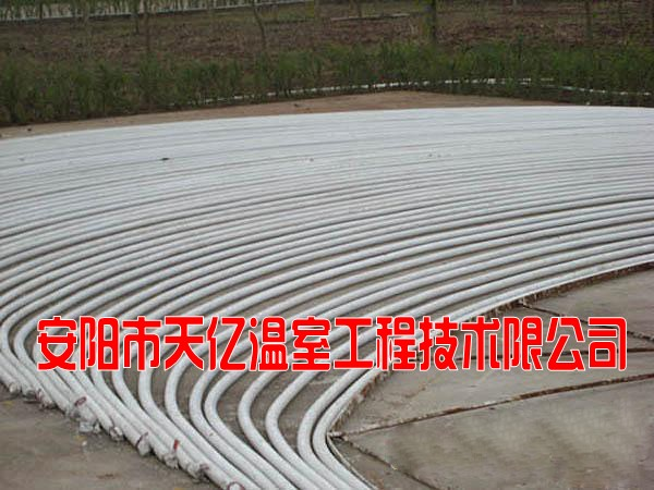 温室大棚骨架材料 钢管镀塑大棚骨架机 注塑大棚 天亿