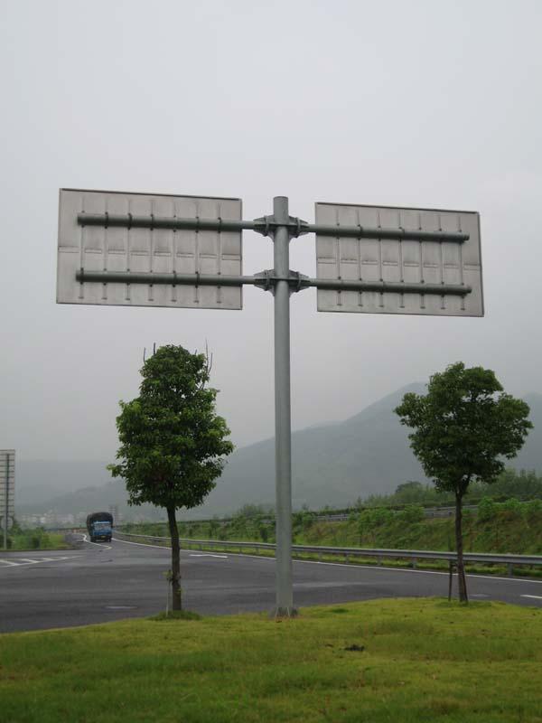 厂家八角监控立杆标志牌杆|单柱式双面标志杆