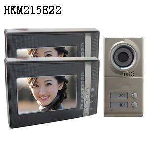 彩色可视对讲铃/楼宇对讲电话/两户型可视门铃 精品HKM215