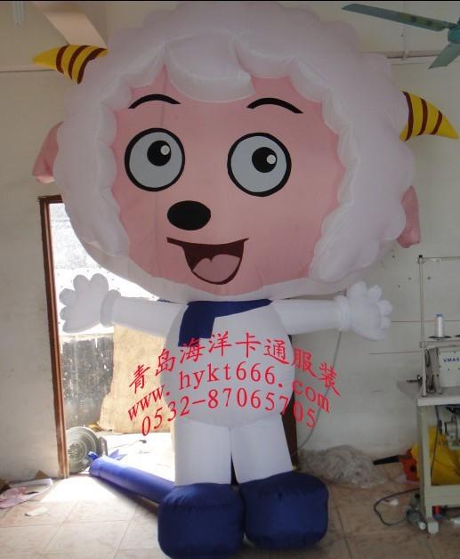 出售喜羊羊行走气模卡通服装人偶服装