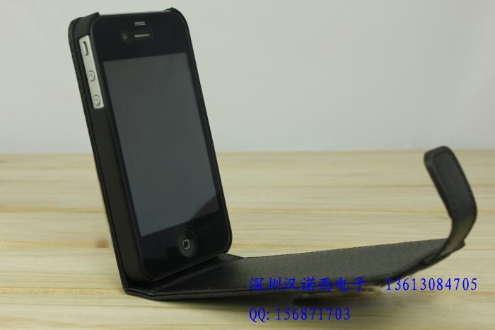 苹果Iphone4G手机真皮外壳皮套