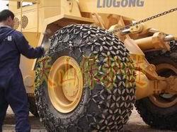 天津小铲车防滑链哪家的质量好?天山轮胎保护链