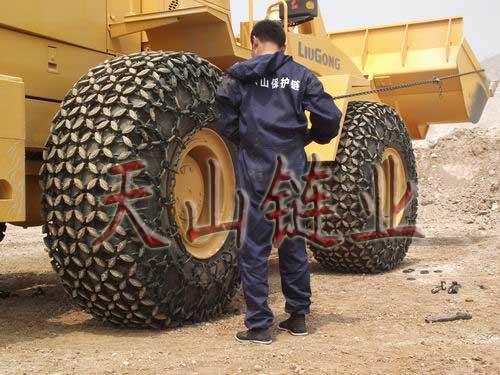 供应:轮胎保护链 铲车防滑链 装载机保护链