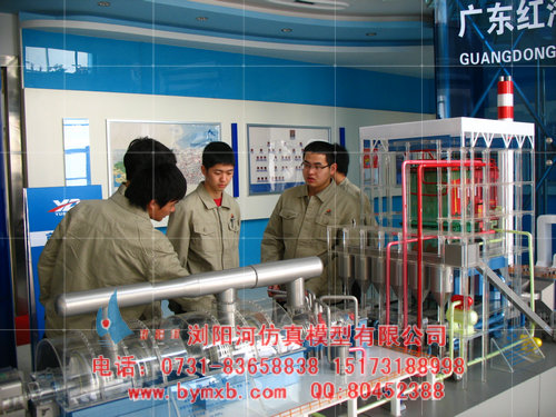锅炉模型,火电厂沙盘模型,循环流化床锅炉,控制循环汽包锅炉模型