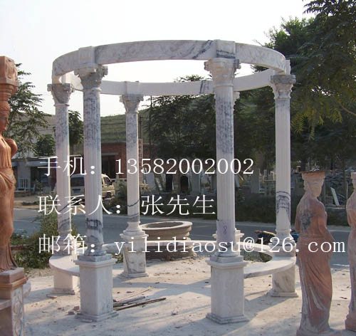 详细描述:          大理石凉亭 石雕凉亭 欧式凉亭 雕塑之于设计