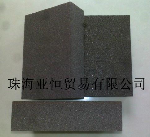 塑料打磨砂块静电植砂海绵砂块
