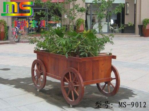 户外家具,庭院家具,实木花车