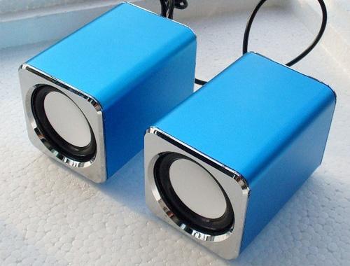 深圳生产2.0铝合金USB笔记本电脑小音箱/音响加工厂家批发