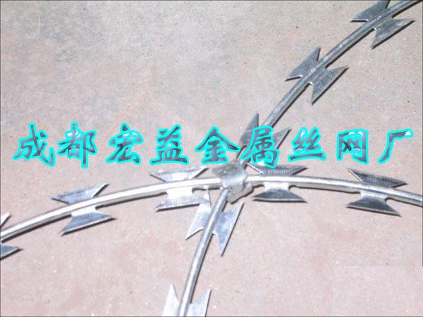 刀片刺绳,刀片刺网