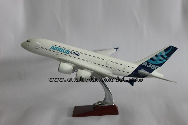 树脂飞机模型A380空客原型机航空模型36CM