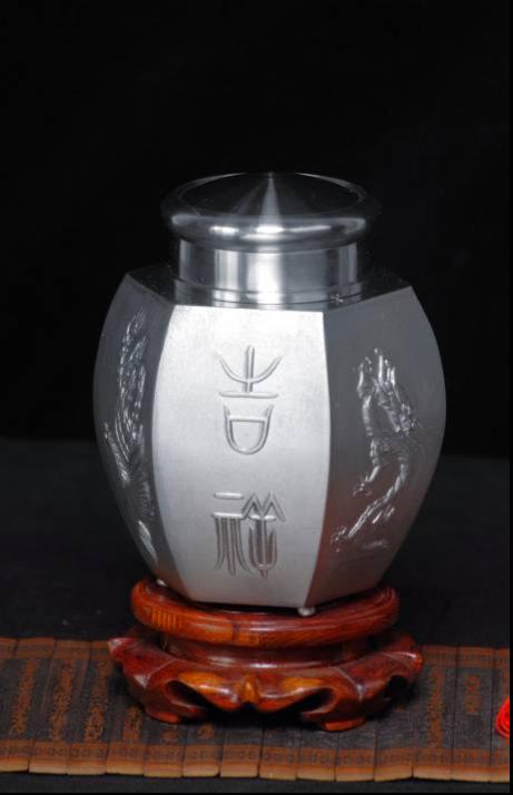 橄榄六方茶筒