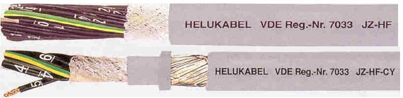 JZ-HF 拖链专用,标准型高柔性控制电缆