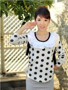 韩国服装-黑白双色小烫钻连体打底裙裤