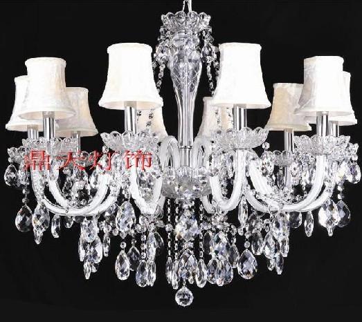 新款上市!10头客厅家居水晶蜡烛吊灯DT-10A978514