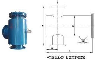 GCQ直角型自洁式水过滤器价格厂家直销