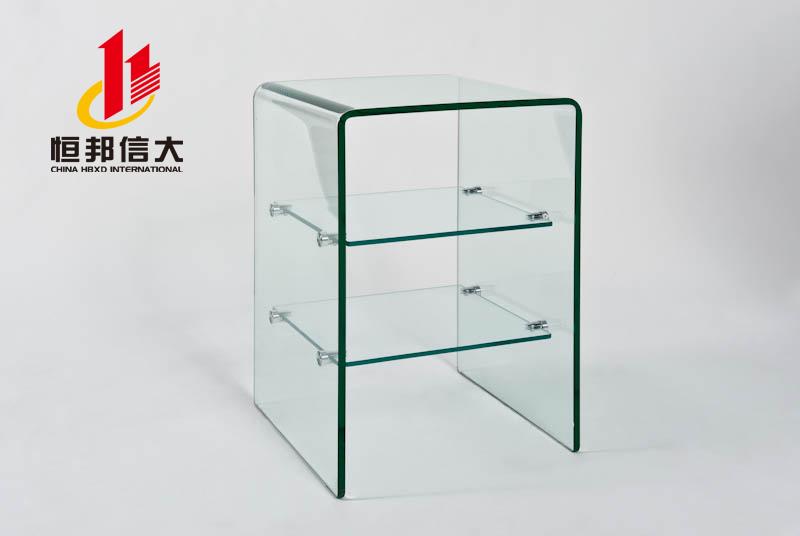 玻璃桌价格玻璃储物架北京玻璃多功能储物架