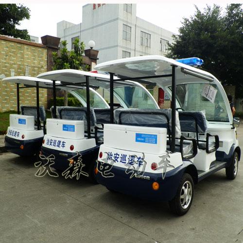 广东厂家热销电动巡逻车4座观光车