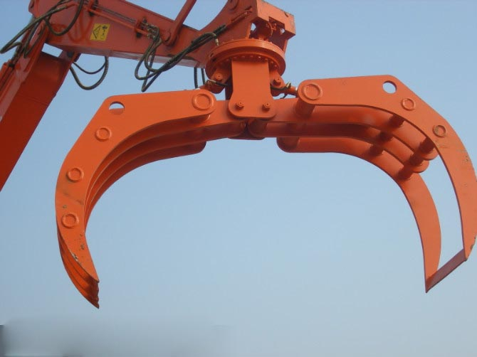钩机加长臂挖掘机抓木器抓爪