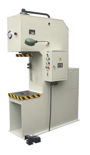 YL41-200中大型单柱校正压装液压机,深喉单柱液压机