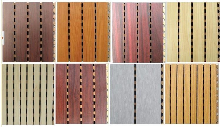 影院专用吸音隔音材料 槽木吸音板 ROHS标准 木皮饰面