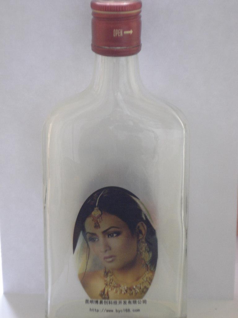 废品手工制作酒瓶